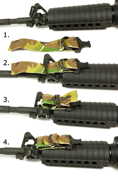 How to attach Cobra Sling to AK front