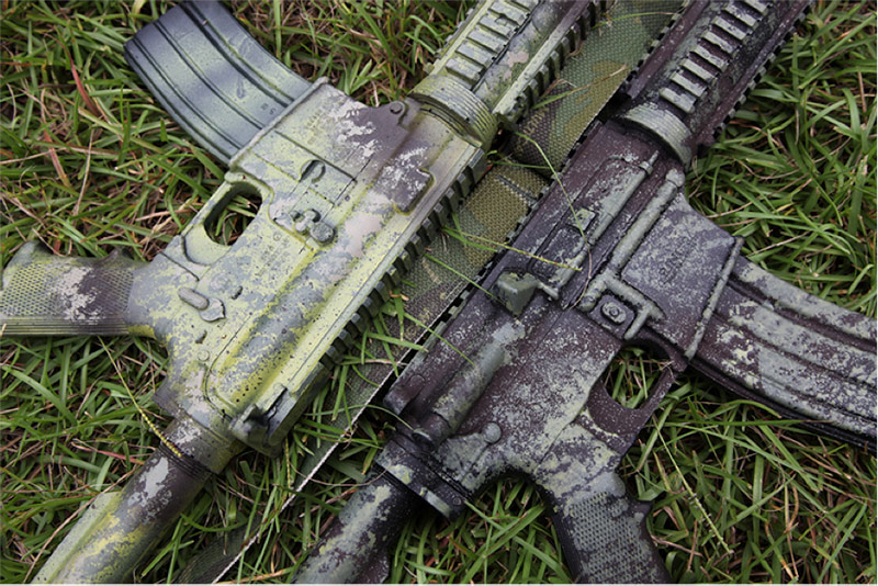 Blue Force Gear How To Camo Your Rifle With A Sponge