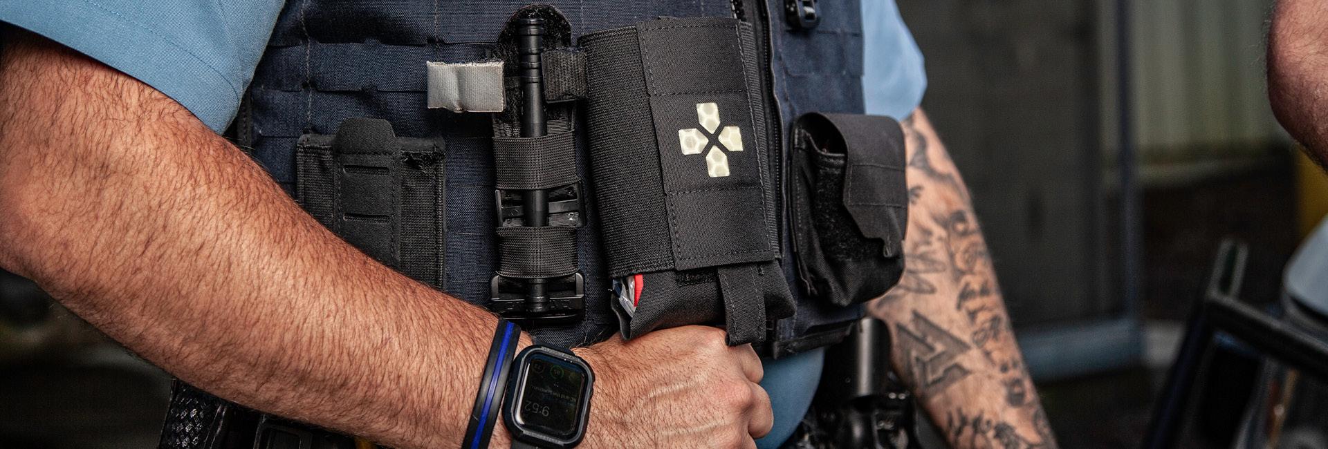 Micro Trauma Kit on a MOLLE Belt