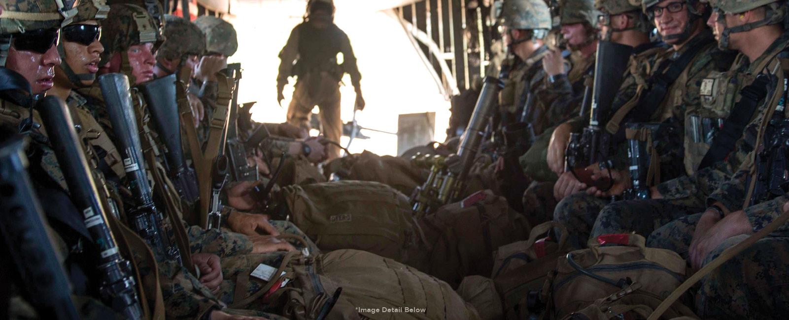 Marines on Osprey
